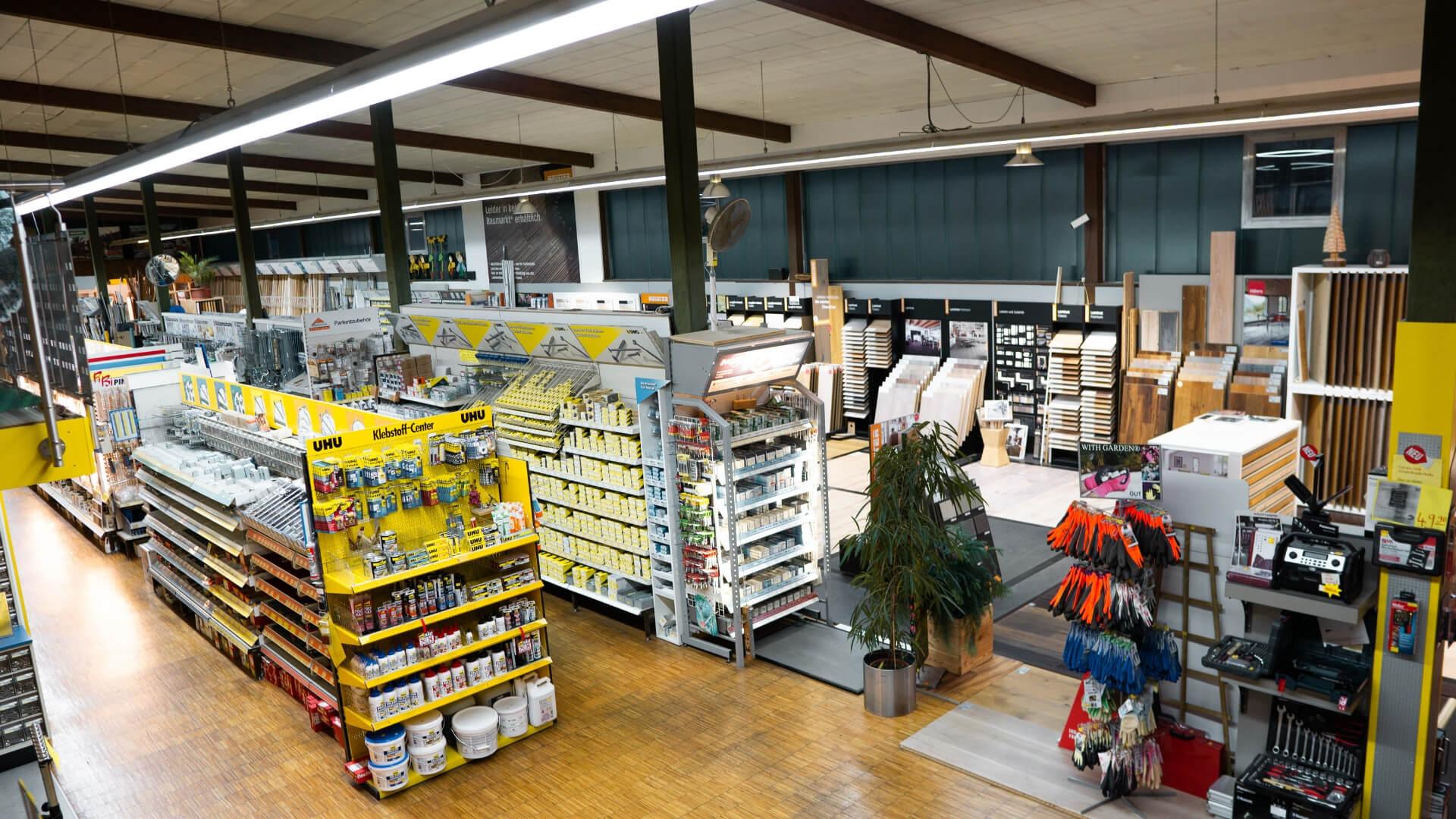 Mössingen Bühler Holzfachmarkt Heimwerkerladen Übersicht