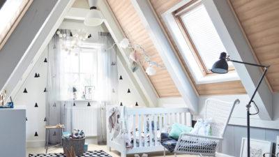 Decke und Wand im Kinderzimmer